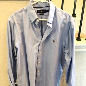 Ralph Lauren light blue polo button down LG